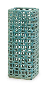 Handcrafted Links Tall Graphic Vase