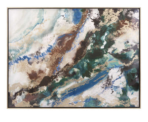 Chic Seamus Marbleized Framed Wall Art