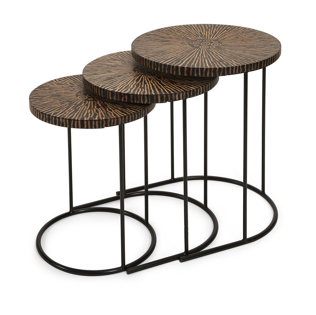 Astounding Hoki Coco Shell Tables - Set of 3
