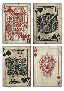 Leonato Playing Card Wall Decor, Set of 4