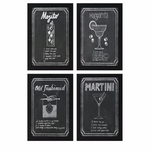 Cocktail Wall Art - Assortment Of 4