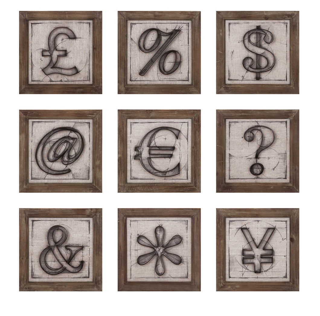 Alluring Beth Kushnick Symbols Wall Decor ? Assorted 9