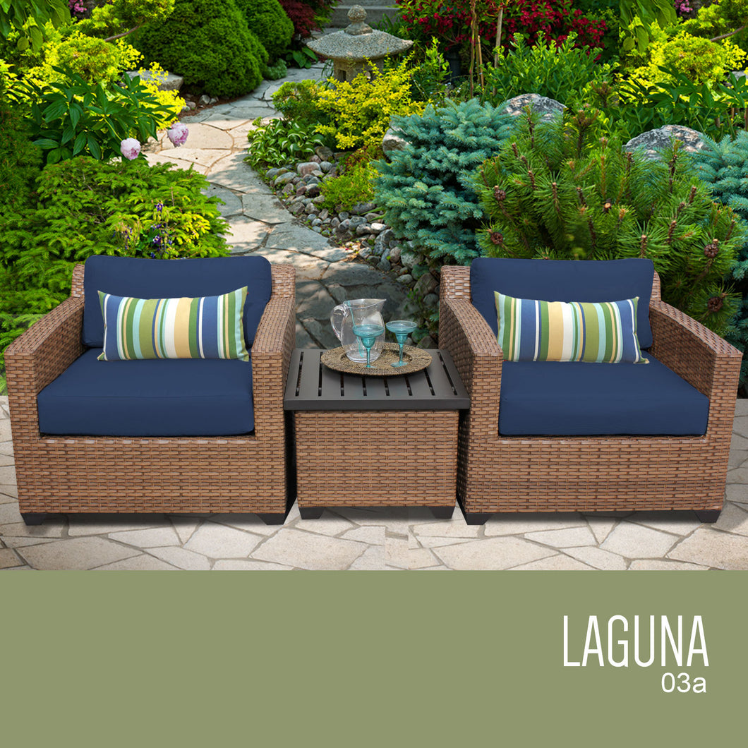 Laguna 3 Piece Outdoor Wicker Patio Furniture Set 03a