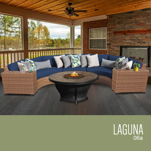 Laguna 6 Piece Outdoor Wicker Patio Furniture Set 06a