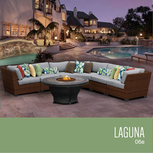 Laguna 6 Piece Outdoor Wicker Patio Furniture Set 06e