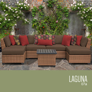 Laguna 7 Piece Outdoor Wicker Patio Furniture Set 07a