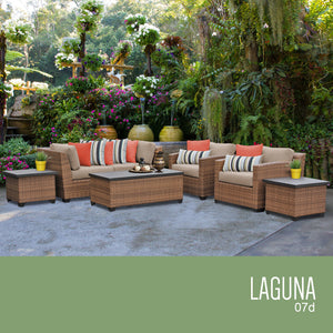 Laguna 7 Piece Outdoor Wicker Patio Furniture Set 07d