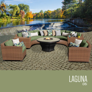 Laguna 8 Piece Outdoor Wicker Patio Furniture Set 08j