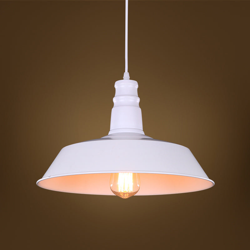 Luz 1-light White 14-inch Edison Pendant with Bulb