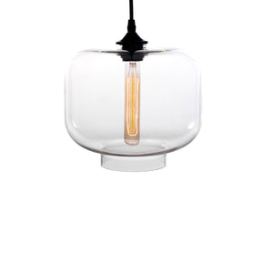 Larentia 1-light Glass 15-inch Edison Pendant Lamp with Bulb