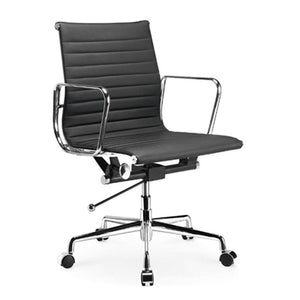 Manhattan Comfort  Ellwood Mid-Back Adjustable Office Chair in Black