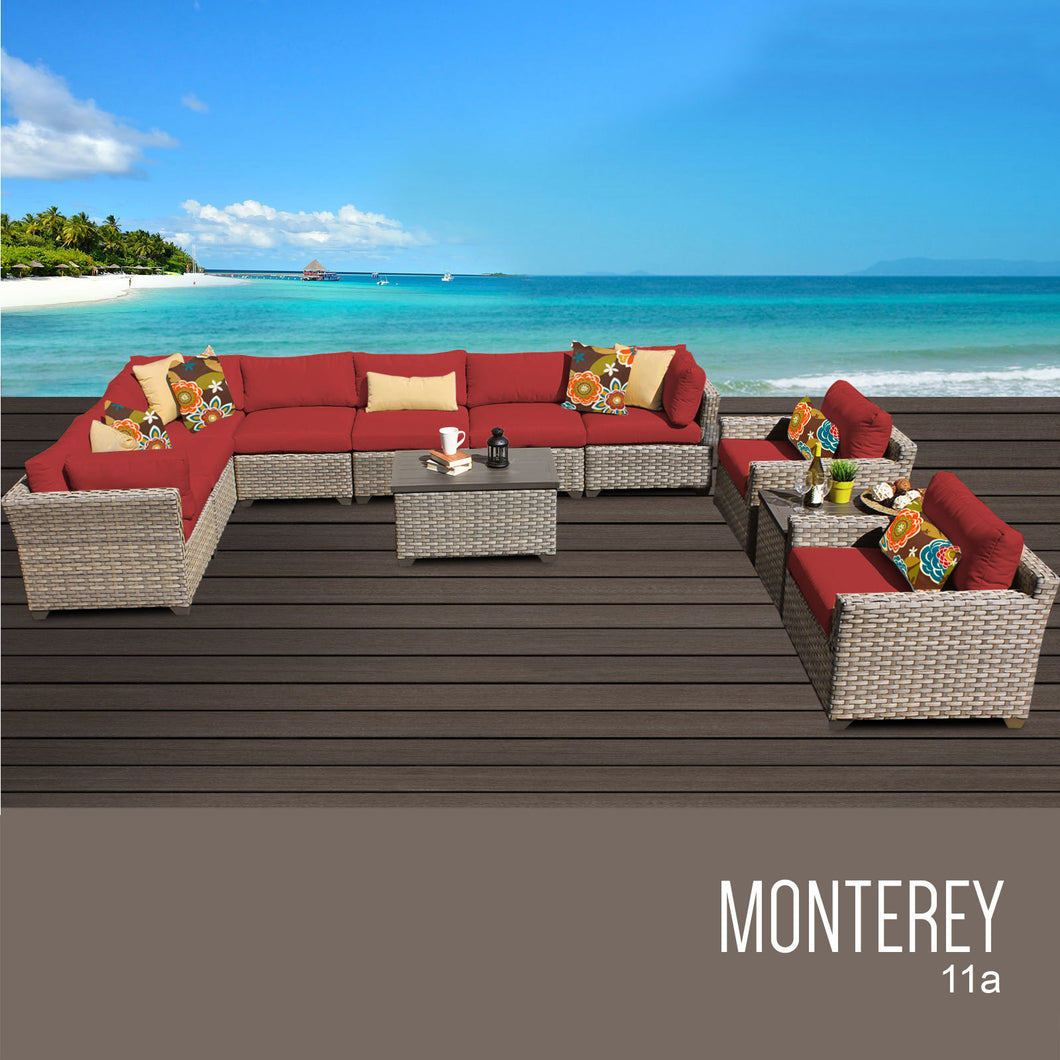 Monterey 11 Piece Outdoor Wicker Patio Furniture Set 11a