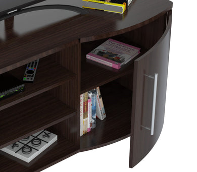 Curved Front 50 Inches Flat-Screen TV Stand