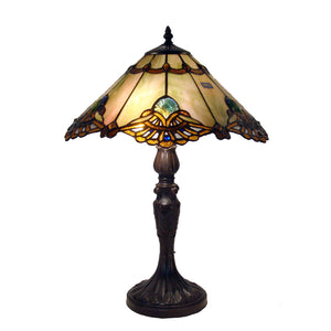 Tiffany-style Warehouse of Tiffany Courtesan Table Lamp