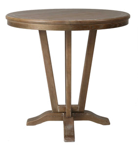 "Devon Coast Pub Table, 40"" Bar Height, Distressed Charcoal/42"" Round Wood Top"