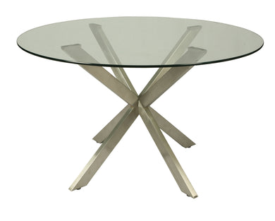 Eritrea Round Dining Table, Stainless Steel