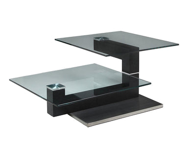 Janice Coffee Table, Stainless Steel/Wenge Veneer