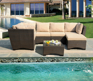 W Unlimited Infinity Collection Outdoor Garden Patio Furniture 7PC set w/ Coffee Table