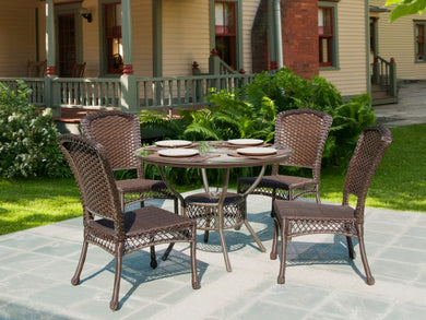 W Unlimited Earth Collection 5PC Outdoor Garden Patio Dinning Furniture Set w/ Table