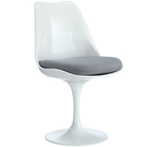 Tulip Fiberglass Armless Dining chair Grey