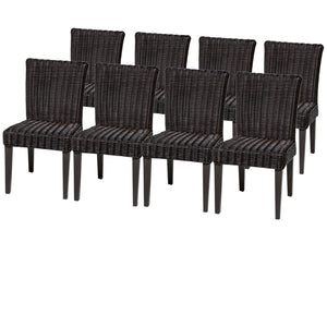 8 Venice Armless Dining Chairs