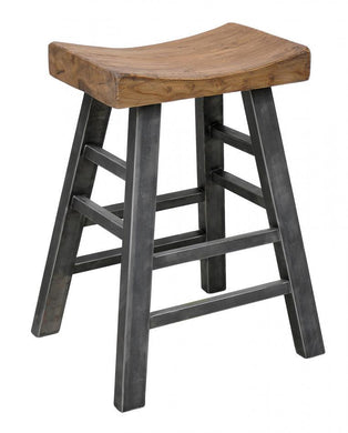 Urban Port Vintage Square Bar Stool