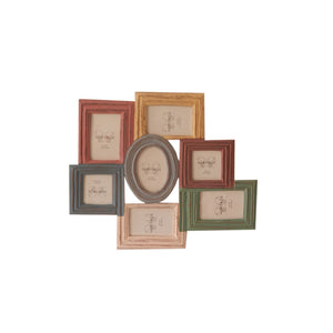 The Urban Port Brand Multi Colored Photo Frame with 7 Appertures