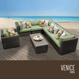 Venice 8 Piece Outdoor Wicker Patio Furniture Set 08b