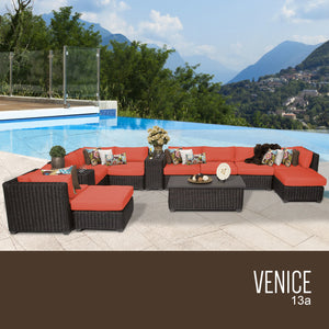 Venice 13 Piece Outdoor Wicker Patio Furniture Set 13a