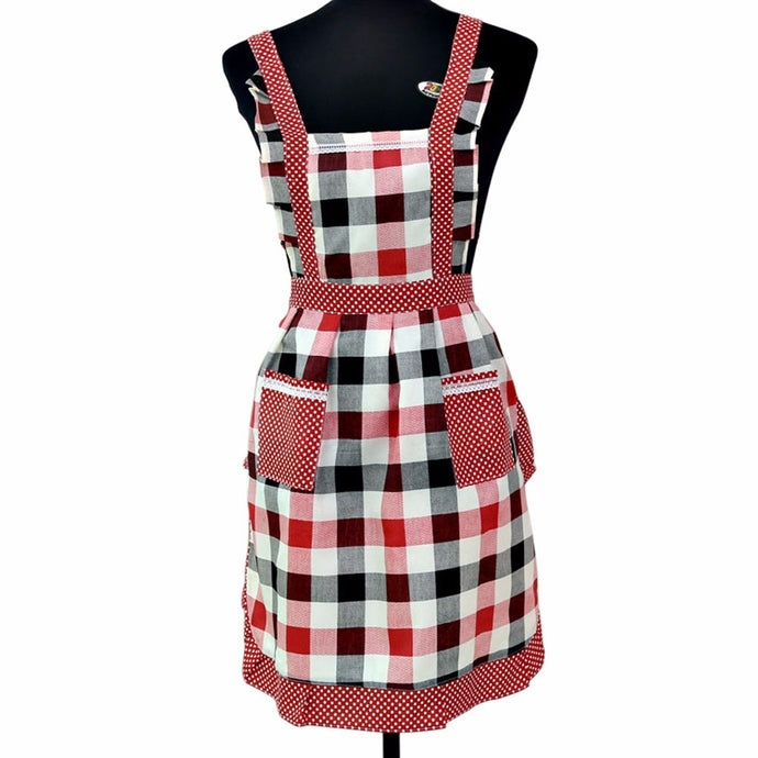 Vintage Checked Kitchen Apron