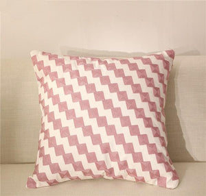Abstract Embroidered Cushion Cover - Above Urban
