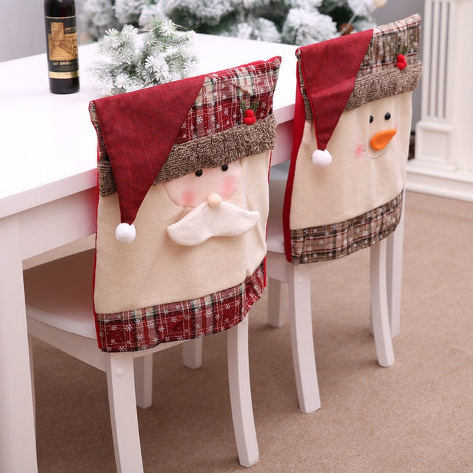 Christmas Chair Back Covers - Santa and Snowman - Above Urban