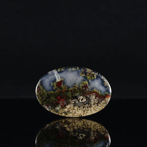 Scenic Moss Agate Cabochon - INDOMINERAL
