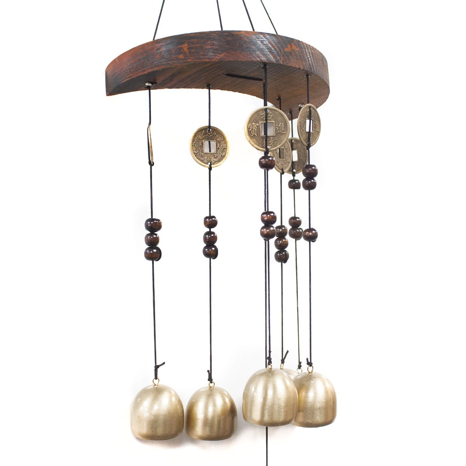 Feng Shui Chimes  Moon And 6 Bells & Coins