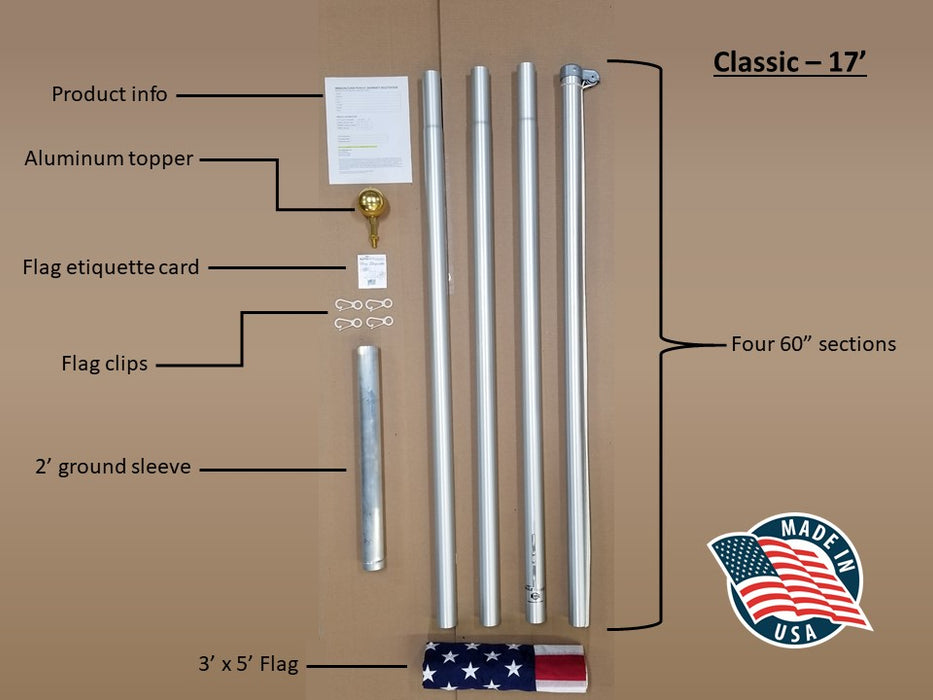 Flagpole (17ft.)