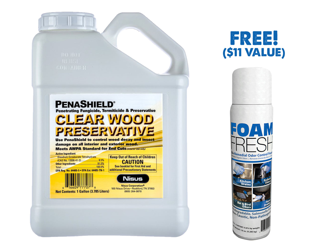 Penashield Wood Treatment and Preservative (with FREE Foam Fresh)