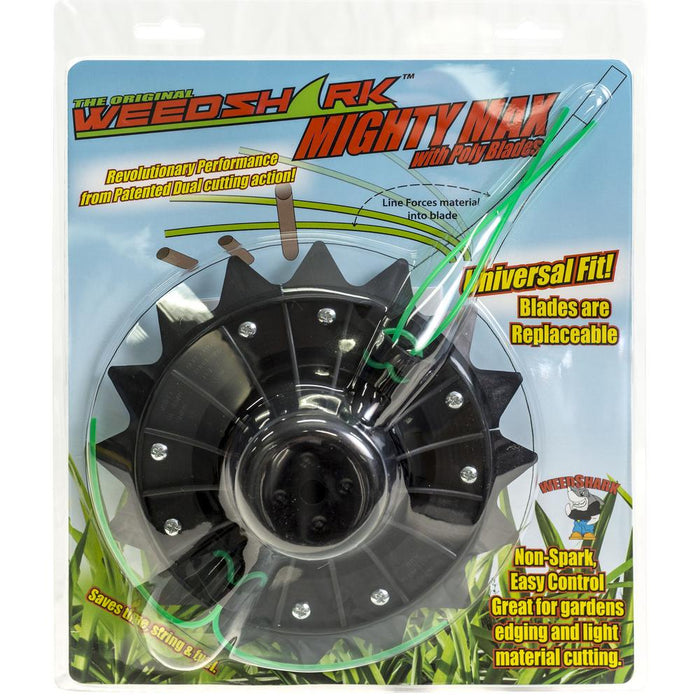 WeedShark Mighty Max Dual Action Weed and Brush Trimmer Head