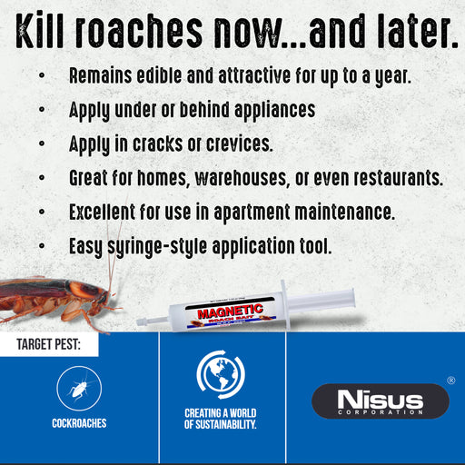 magnetic roach bait information sheet