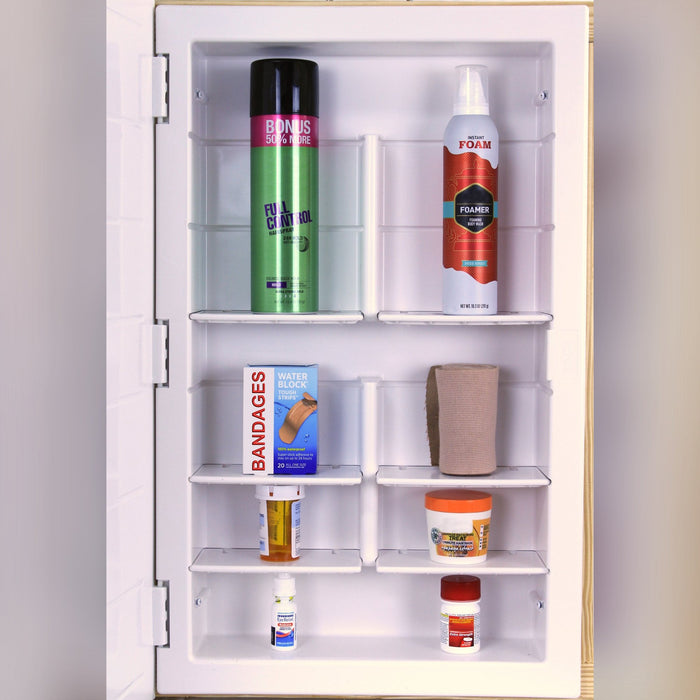medicine cabinet with mirror interior layout 1