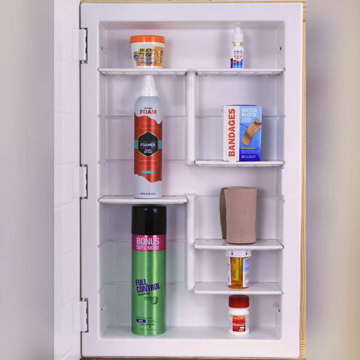medicine cabinet with mirror interior layout 2