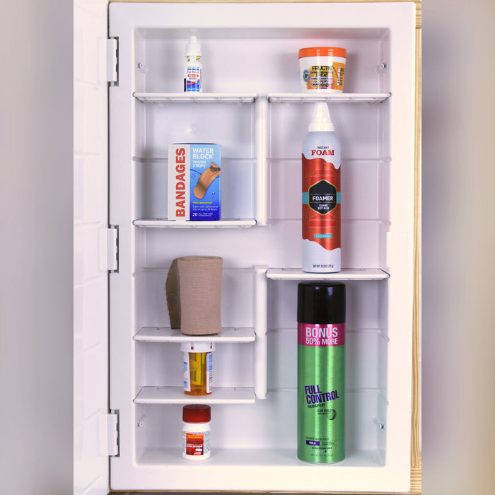 "Model# 21-2-26-00 Polished Edge Medicine Cabinet with 6 Shelves (16"" x 26"" x 3.5"")"