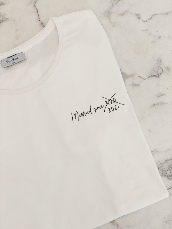 "T-Shirt Homme ""Married since 2021"""