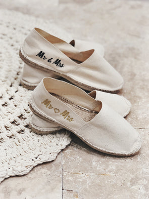 "Pack Duo espadrilles ""Mr & Mrs"""