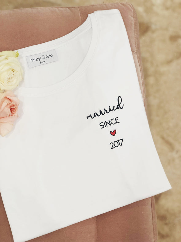 "T-Shirt Femme ""Married since"""