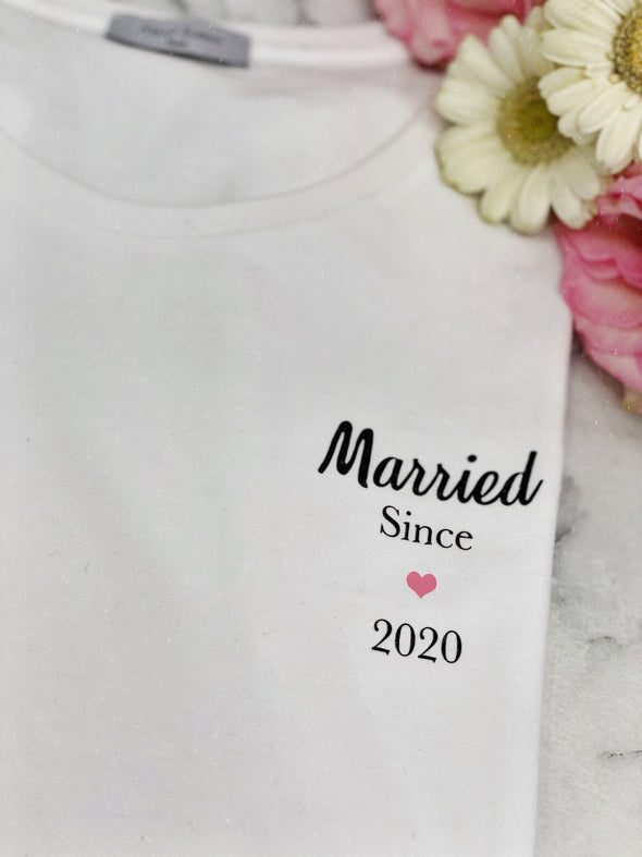 "Pack Duo T-Shirts ""Married since 2020"""