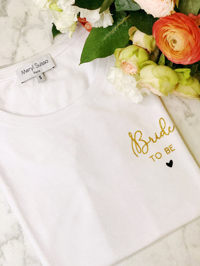 "T-Shirt Femme ""Bride to be"" Gold edition"