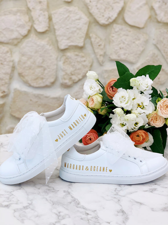 "Sneakers ""I Do"" - Gold Edition Femme"