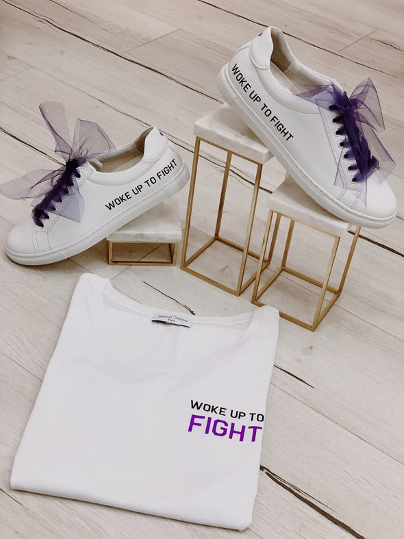 "Sneakers ""Woke Up To Fight"""