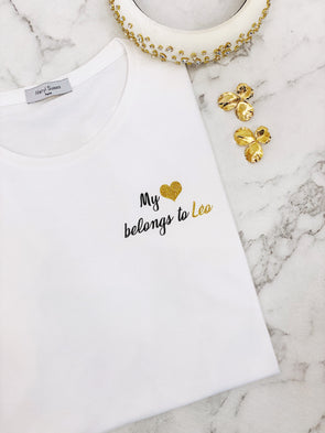 "T-Shirt Femme ""My heart belongs to"" édition limitée Saint Valentin"