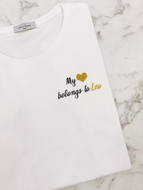 "T-Shirt Homme ""My heart belongs to"" édition limitée Saint Valentin"